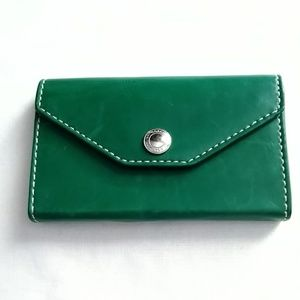 Vintage Coach Card Case Kelly Green